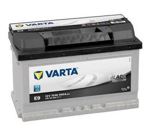Autobaterie Varta 12V 70Ah 640A, BLACK Dynamic E9 570144