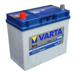 Autobaterie Varta 12V 45Ah 330A, BLUE dynamic B34 545158 LEVÁ