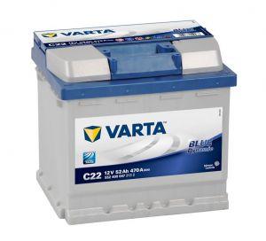 Autobaterie Varta 12V 52Ah 470A, BLUE dynamic C22 552400