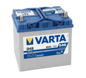 Autobaterie Varta 12V 60Ah 540A, BLUE dynamic D48 560411 LEVÁ
