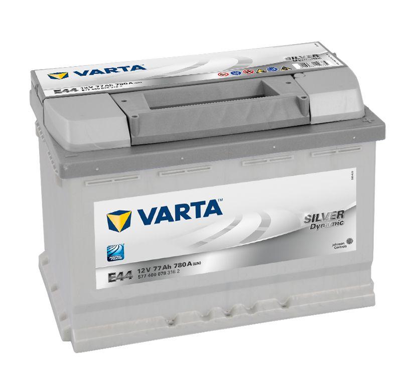 Autobaterie Varta 12V 77Ah 780A, SILVER Dynamic E44 577400