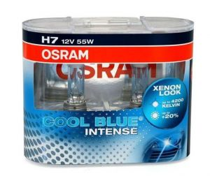 Autožárovky OSRAM Cool Blue Intense H7 55W 12V Duo (2ks)