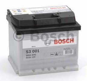 Autobaterie BOSCH S3 001 12V 41Ah 360A, (0 092 S30 010)