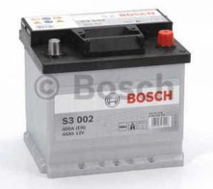 Autobaterie BOSCH S3 002, 12V 45Ah 400A (0 092 S30 020)