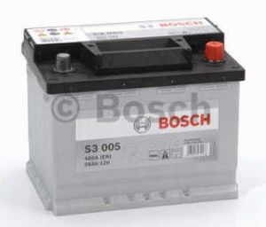 Autobaterie BOSCH S3 005 12V 56Ah 480A, (0 092 S30 050)