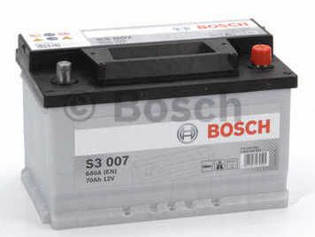 Autobaterie BOSCH S3 007, 12V 70Ah 640A, (0 092 S30 070)