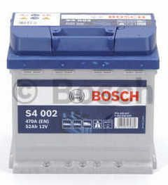Autobaterie BOSCH S4 002 12V 52Ah 470A, (0 092 S40 020)