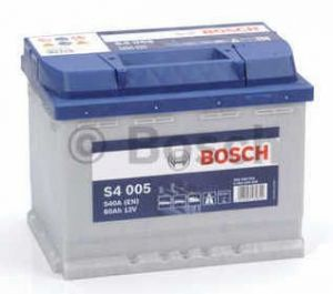 Autobaterie BOSCH S4 005, 12V 60Ah 540A, (0 092 S40 050)