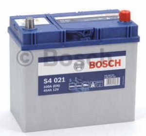 Autobaterie BOSCH S4 021, 12V 45Ah 330A (0 092 S40 210)