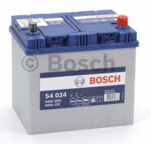 Autobaterie BOSCH S4 024, 12V 60Ah 540A, (0 092 S40 240)