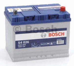 Autobaterie BOSCH S4 026, 12V 70Ah 630A (0 092 S40 260)