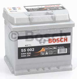 Autobaterie BOSCH S5 002, 12V 54Ah 530A,  (0 092 S50 020)