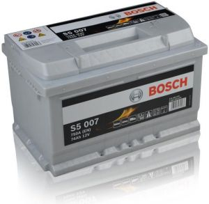 Autobaterie BOSCH S5 007, 12V 74Ah 750A,  (0 092 S50 070)