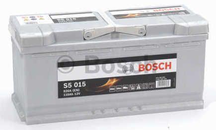 Autobaterie BOSCH S5 015, 12V 110Ah 920A, (0 092 S50 150)