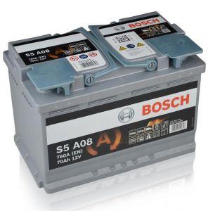 Autobaterie Bosch S5 AGM, 12V, 70Ah, 760A, 0 092 S5A 080