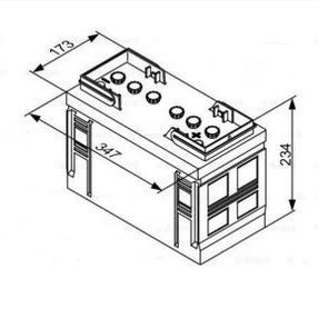 Autobaterie BOSCH T3 12V 110Ah 680A (0 092 T30 350)