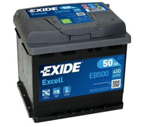 Autobaterie EXIDE Excell 12V 50Ah 450A  EB500