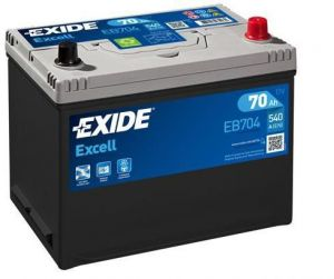 Autobaterie EXIDE Excell 12V 70Ah 540A  EB704