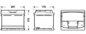 Autobaterie EXIDE Premium 12V 47Ah 450A EA472
