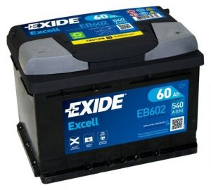 Autobaterie EXIDE Excell 60Ah 540A 12V  EB602