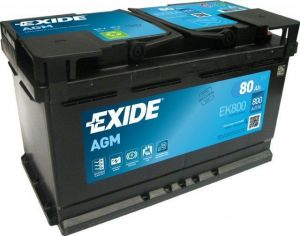 Autobaterie Exide Start-Stop AGM, 12V, 80Ah, 800A, EK800