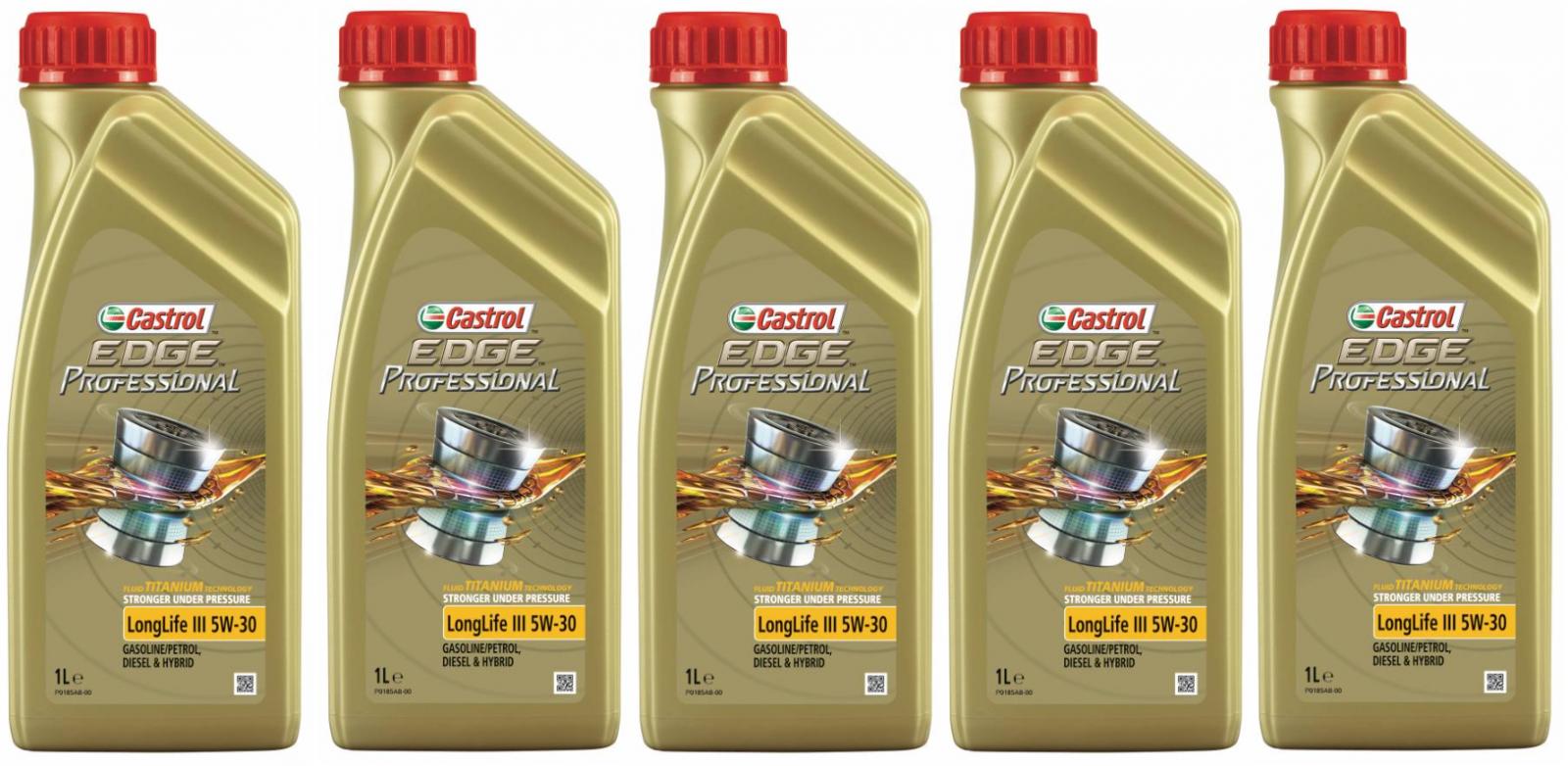 Castrol EDGE Titanium FST Professional Longlife III 5W-30 5L (5x1l)