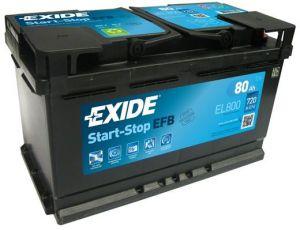 EXIDE Start-Stop EFB 12V 80Ah 720A EL800