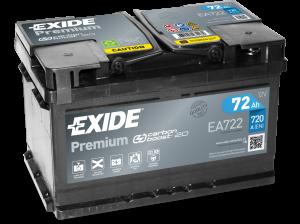 Autobaterie EXIDE Premium 12V 72Ah 720A  EA722