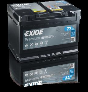 Autobaterie EXIDE Premium 12V 77Ah 760A EA770